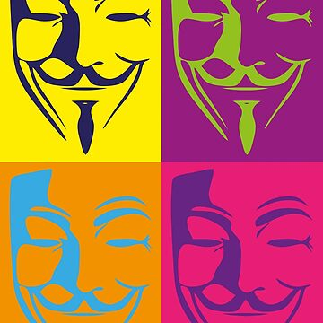 Guy Fawkes Pop Art by Exilant