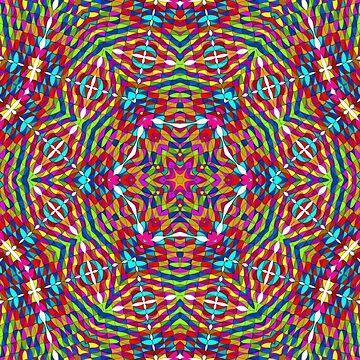 Kaleidoskop - rot, blau, gelb von pASob-dESIGN