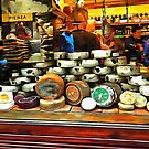 Cheese Shop Window Display Pienza by Dorothy Berry-Lound
