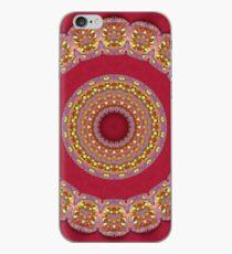 Red Gold Yellow rosettes Mandala iPhone Case