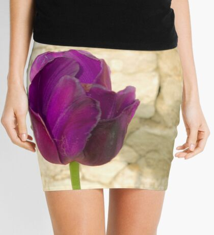 Purple Tulip Mini Skirt