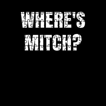 Where's Mitch? It's a Puzzle! Funny political meme by highparkoutlet