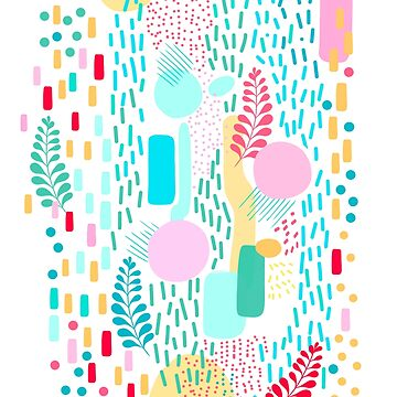 Organic Nature - Colourful Doodle Pattern 3 by Dominiquevari