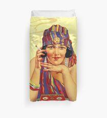 Egypt Vintage Advertising Poster Restored Duvet Cover