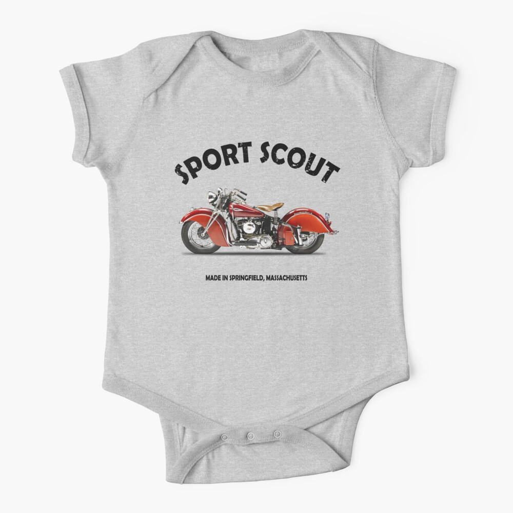 The Vintage Sport Scout Motorcycle Baby One-Piece