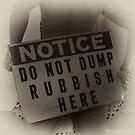 No Dumping by WalkingFish