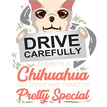 Drive Carefully There's A Chihuahua Out There  by ginzburgpress