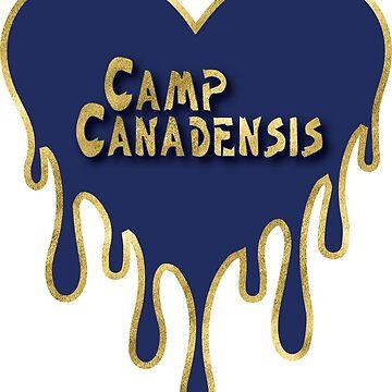 Camp Canadensis Sticker; Camp Canadensis bleeding heart; camp canadensis pillow; camp canadensis tee shirt by dddesignsnj