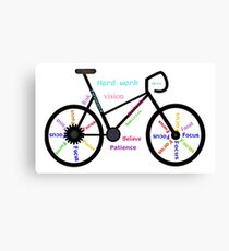 Motivational Words, Biking, Cycling, Bike Canvas Print