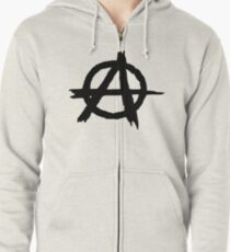 Anarchy by Chillee Wilson Zipped Hoodie