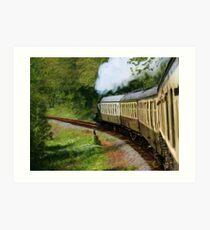 Steam Train as pseudo painting Art Print