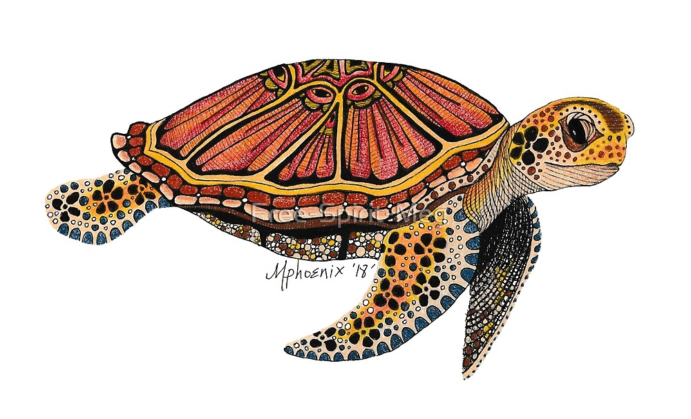 Sea Turtle Totem by Free-Spirit-Meg
