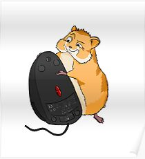 Hamster and a Mouse Poster