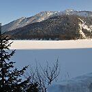 frozen lake by Daidalos