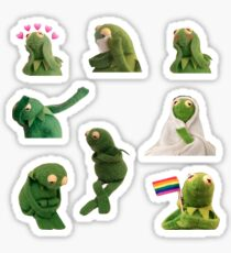 Kermit the frog meme Sticker