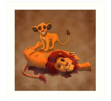 Father's Day - Simba and Mufasa Art Print