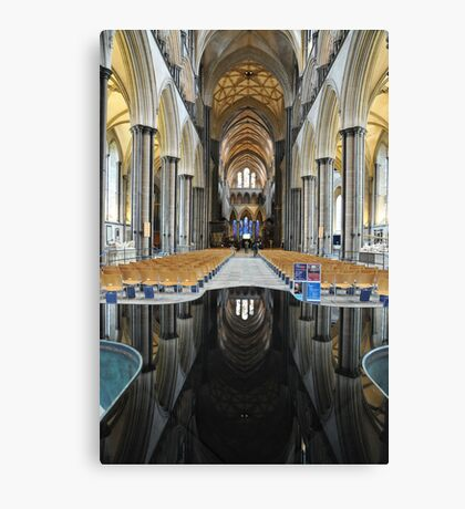 Salisbury Cathedral Interior Canvas Print
