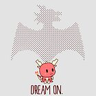 Dream On | red dragon mythical creature cute chibi by PikachuRox