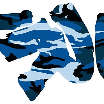 TRU blue camo by knightink