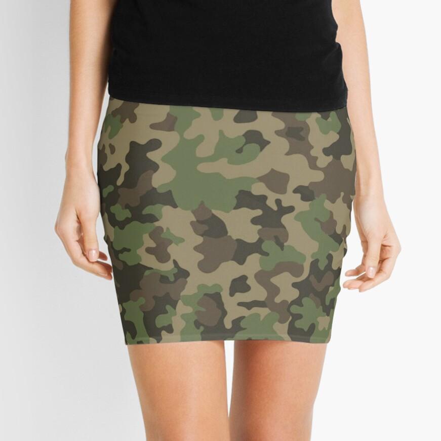 Woodland Camo Minifalda