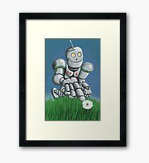 Daisy Picking Robot Framed Print