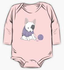 French Bulldog in a Knitted Jumper Kids Clothes