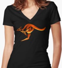 Celtic Knot Kangaroo Women's Fitted V-Neck T-Shirt