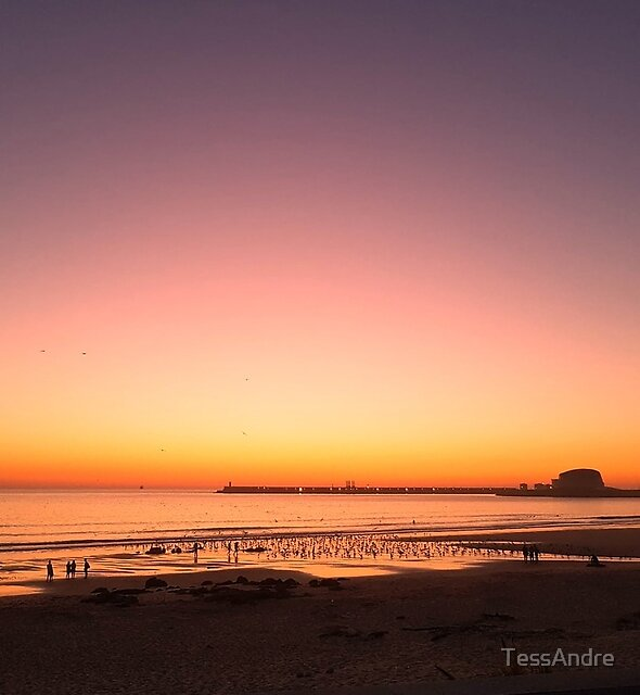 peaceful sunset I by TessAndre