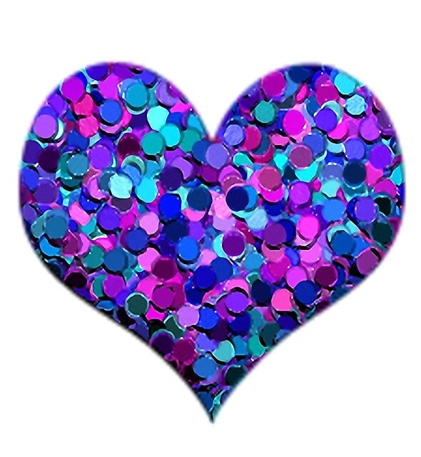 Pink, Purple and Blue Glitter Heart by GraphicAllusion