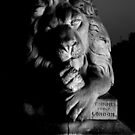 Lion Saltaire Black and White by Lorne  Campbell