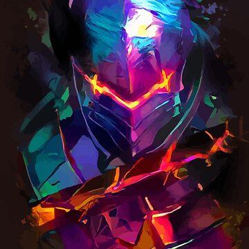 Neon Berserker by hustlart