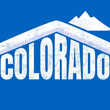 Colorado Winter Skiing Souvenir Rocky Mountains  by peter2art