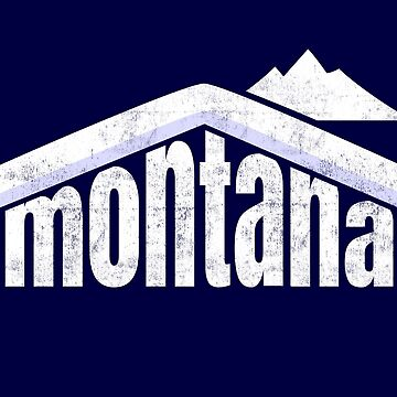 Montana Winter Skiing Souvenir Rocky Mountains  by peter2art