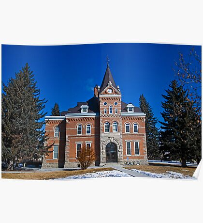 Jefferson County (Montana) Court House Poster