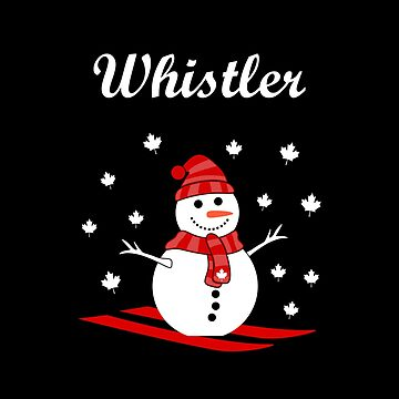 Whistler Canada Snowman with Maple Leaf Snow Color by TinyStarCanada