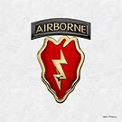 4th Brigade Combat Team 25th Infantry Division Airborne - 4th IBCT Insignia over White Leather by Serge Averbukh