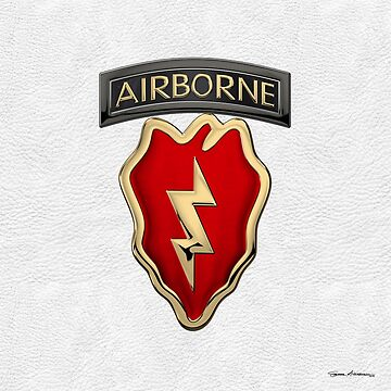 4th Brigade Combat Team 25th Infantry Division Airborne - 4th IBCT Insignia over White Leather by Captain7