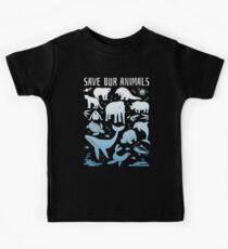 Retten Sie unsere Tiere - gefährdete Tiere der Welt Kinder T-Shirt