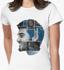 Tyler Hoechlin Face Squares Women's Fitted T-Shirt