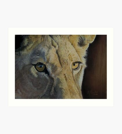 Lion(ess) Eyes Art Print