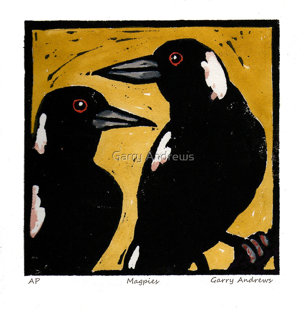 Magpies by Garry Andrews