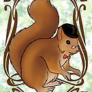 Gentleman Squirrel by CatAstrophe