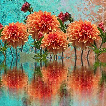 Orange Blumenreflexionen von DavJen