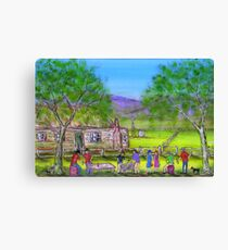 """Outback Australian Barbeque""Original Vivid Australian Acrylic Painting; SOLD Canvas Print"