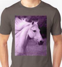 Purple White Horse Head T-Shirt