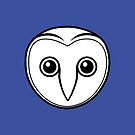 Outline of a Barn Owl's face by Dave  Knowles