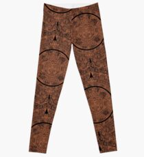 Aztec Calendar by Chillee Wilson Leggings