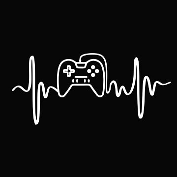 Gamer Heartbeat Video Game Paler Gift by alenaz