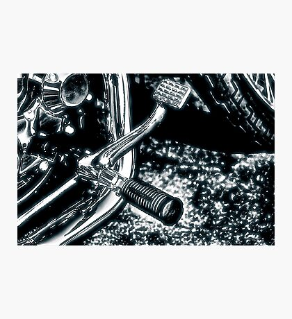Footpeg, Brake Pedal and Exhaust Pipe Photographic Print