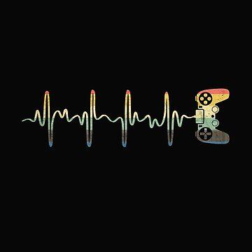 Gamer Heartbeat Vintage by alenaz